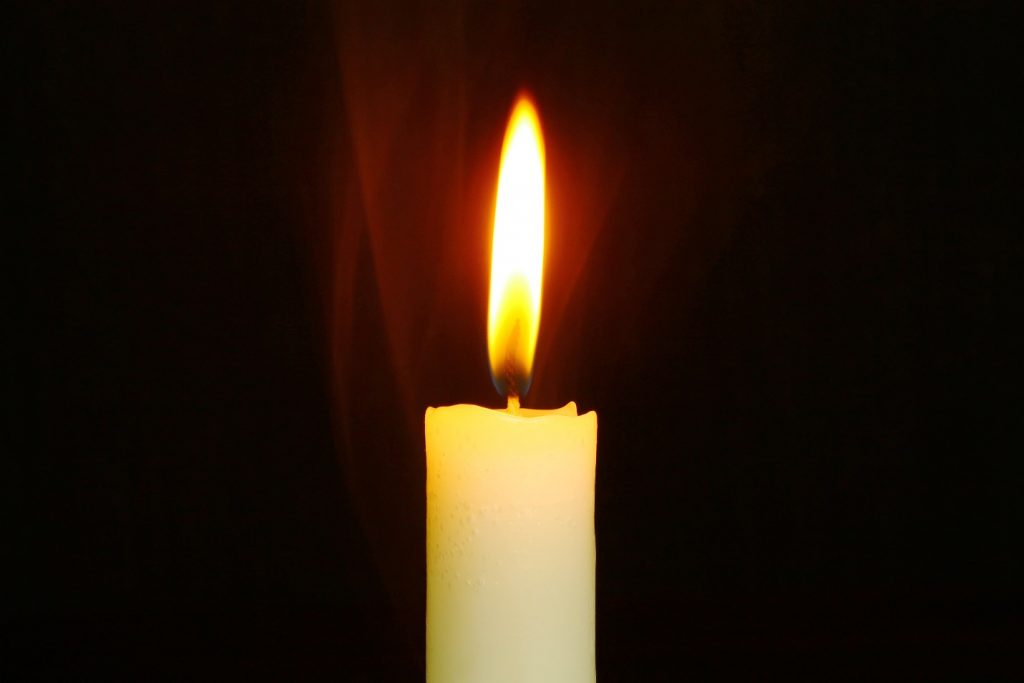 Single Lit Candle